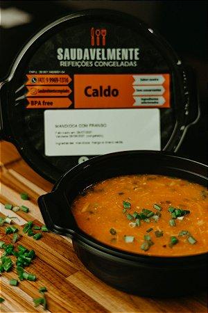 CALDO MANDIOCA COM FRANGO