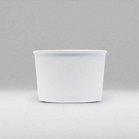 Pote de Papel Branco Biodegradável e Reciclável 50ml Caixa com 3000 Unidades