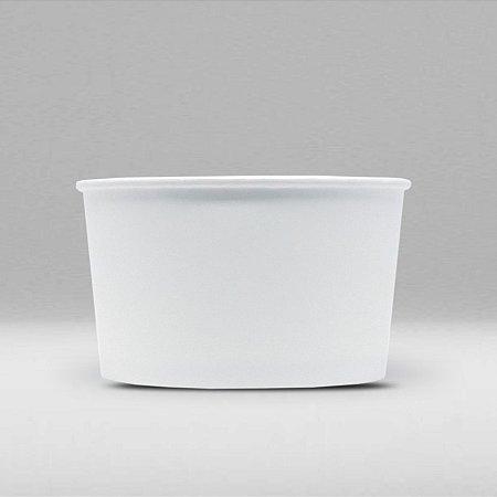Pote de Papel Branco Biodegradável e Reciclável 80ml Caixa com 1500 Unidades