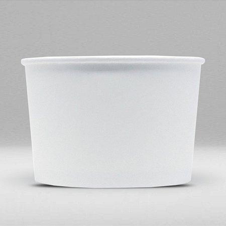 Pote de Papel Branco Biodegradável e Reciclável 140ml Caixa com 1500 Unidades