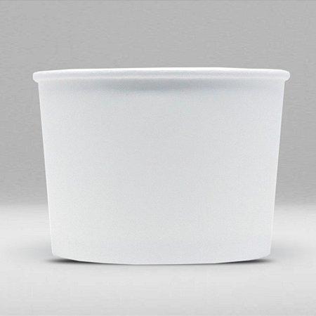 Pote de Papel Branco Biodegradável e Reciclável 250ml Caixa com 1000 Unidades