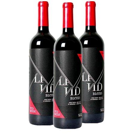 kit La Vid Tinto 3 Vinhos  750ml