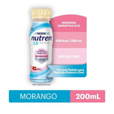 Nutren 1.5 200ml - Sabor Morango