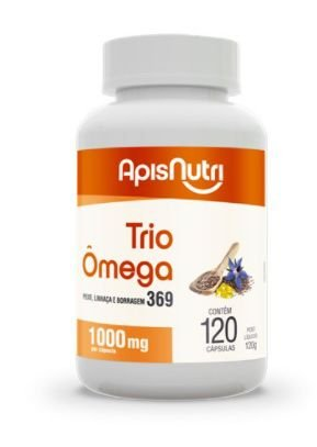 Trio Omega 3, 6, 9  - 120 Cápsulas - 1000 Mg