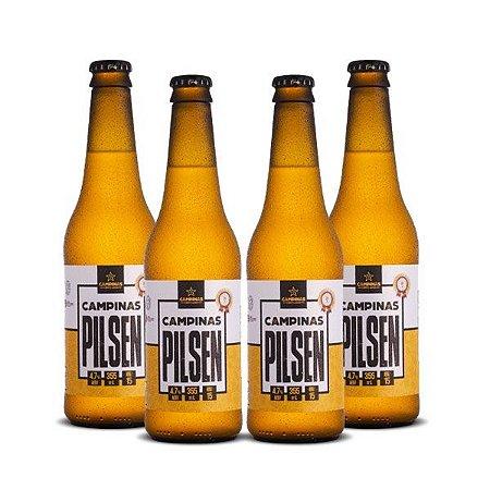 Kit de Cerveja Artesanal 4Pack da CAMPINAS Pilsen - 355ml cada