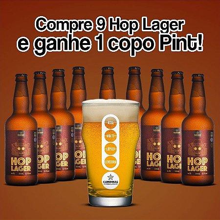 Kit de Cerveja Artesanal 9 unid. CAMPINAS American HOP Lager - 500ml [GANHE UM COPO PINT!]
