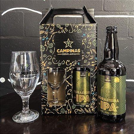 Kit de Cerveja Artesanal com 1 Forasteira American IPA 500ml + 1 Taça de Cerveja