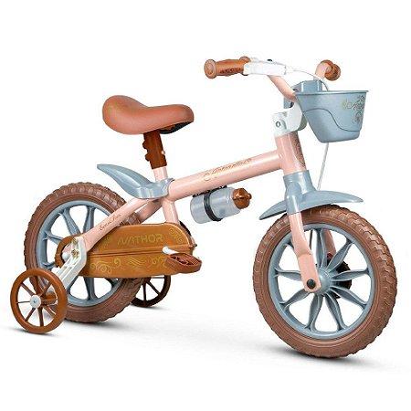 Bicicleta Nathor Aro 12 Infantil Antonella Baby Rosa
