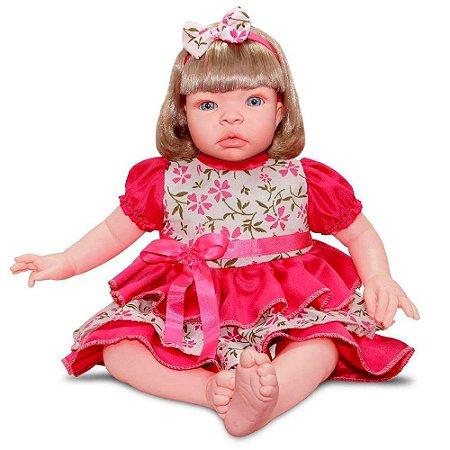 Boneca Bebe Realista Reborn Baby Kiss Loira Sid Nyl