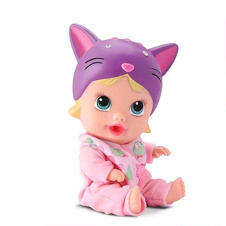 Boneca Bebê Little Dolls Soninho Gatinha Faz Xixi Divertoys