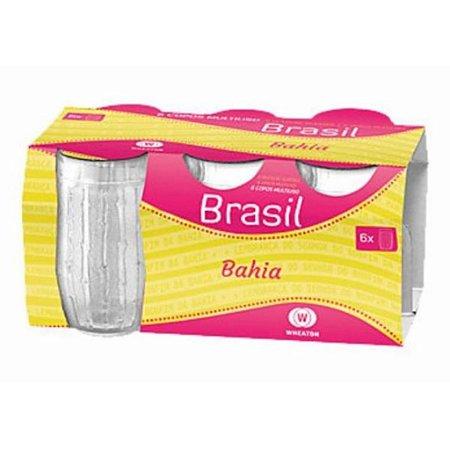 Jogo de Copos de Vidro Conjunto Multiuso Bahia 6 Peças 300ml