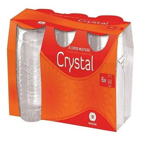 Jogo de Copos de Vidro Conjunto Multiuso Crystal 6 Pçs 280ml