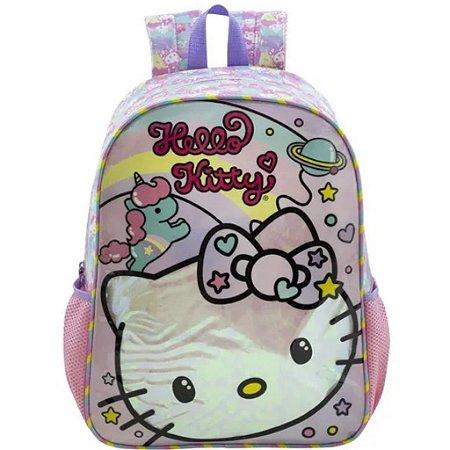 Mochila De Costas G Hello Kitty Rainbow Infantil Xeryus