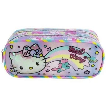 Estojo Duplo Hello Kitty Rainbow Infantil Xeryus  8815