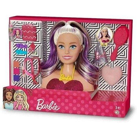 Busto Barbie Styling Face Maquiagem Penteados e Acessórios
