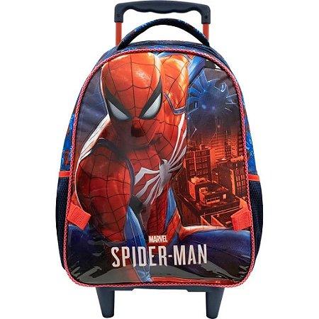 Mochila De Rodinha G Homem Aranha Spider Man Infantil