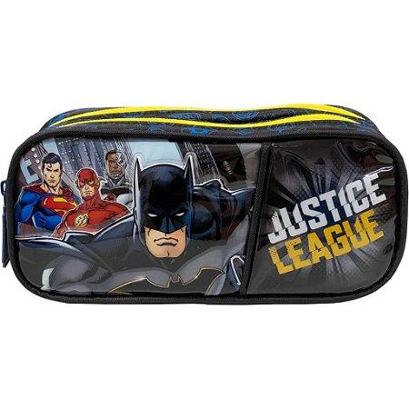 Estojo Duplo Liga Da Justiça Batman Infantil Xeryus  9525