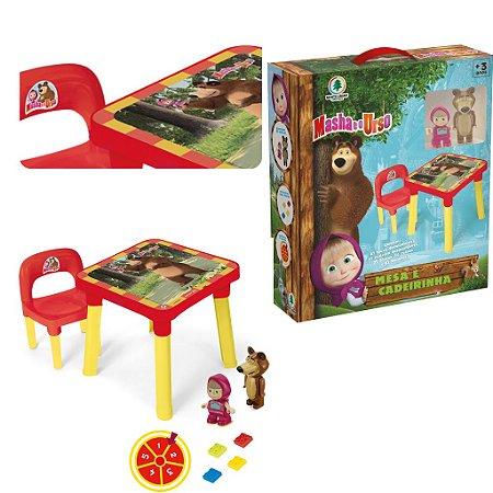 Mesinha Educativa Masha E O Urso Infantil Didatica Cadeira