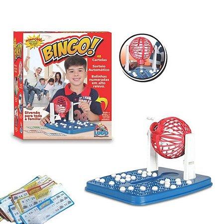 Jogo De Bingo Roleta 48 Cartelas 90 Bolinhas Brinquedos