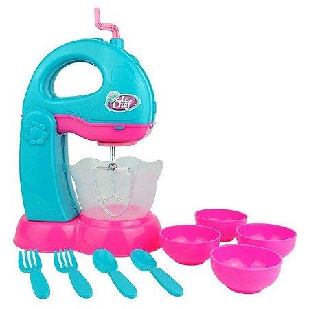 Kit Batedeira de Cozinha C/ Acessórios - Usual Brinquedos