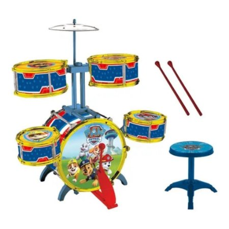 Brinquedo Super Bateria Musical Infantil Patrulha Canina