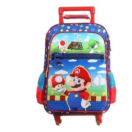 Mochila De Rodinhas 360º Super Mario  Infantil Dmw 11743