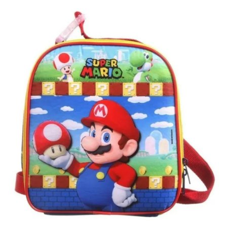 Lancheira Soft Super Mario Escolar Infantil Dmw 11741