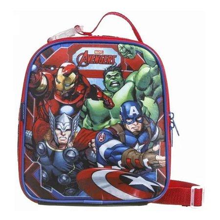 Lancheira Infantil Avengers Vingadores Escolar Dmw 11605