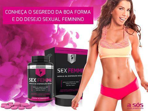 Sex Femme - Suplemento Mineral Vitamínico Feminino - Aumenta a libido e o desejo sexual - 60 cápsulas