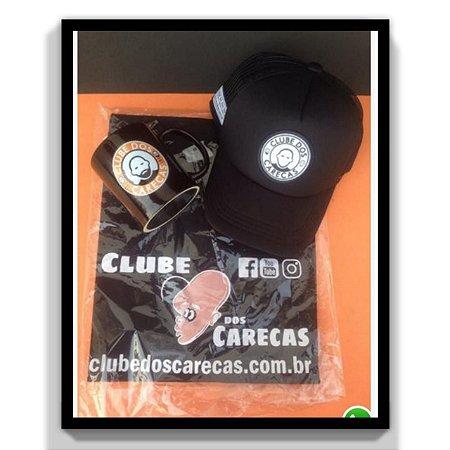 Kit Black Completo Clube dos Carecas-Misto com camiseta logo Retrô