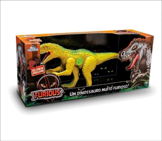 Dinossauro Furious C/ Som 60cm - Adijomar