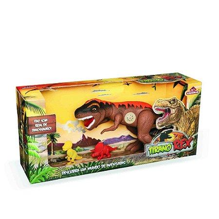 Dinossauro Tiranossauro Rex 43cm Jurassic C/Som - Adijomar