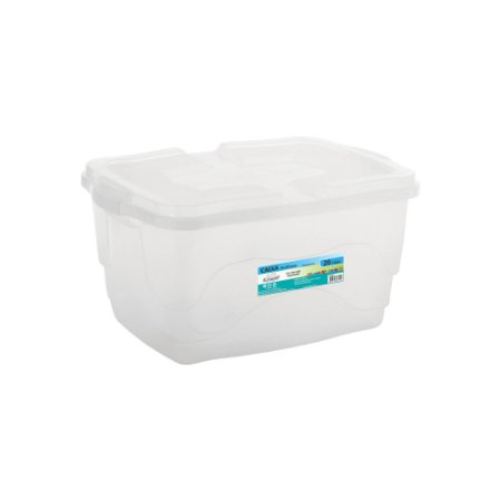 Caixa Organizadora Multiuso 20L - Transparente - Plasmont