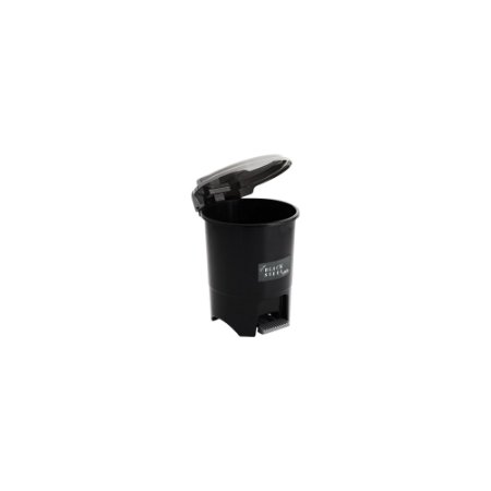 Lixeira Redonda de Pedal 6,5L - Black Steel - Plasmont