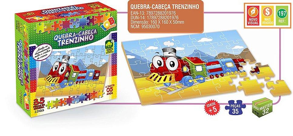 Quebra Cabeça - Trenzinho - Iob Brinquedos