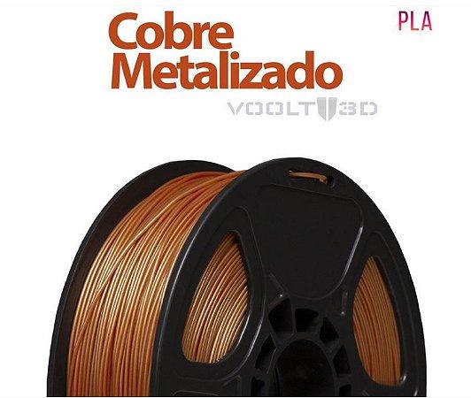 FILAMENTO IMPRESSÃO 3D VOOLT PLA METALIZADO COBRE 1KG