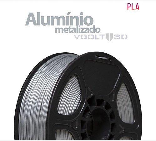 FILAMENTO IMPRESSÃO 3D VOOLT PLA METALIZADO ALUMINIO 1KG