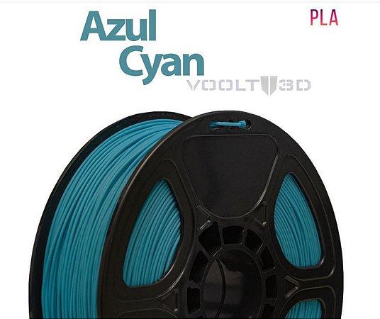 FILAMENTO IMPRESSÃO 3D VOOLT PLA AZUL CYAN 1KG