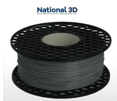 FILAMENTO IMPRESSÃO 3D NATIONAL MG94 ABS CINZA CLARO 500GR