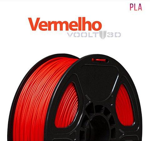FILAMENTO IMPRESSÃO 3D VOOLT PLA VERMELHO 1KG