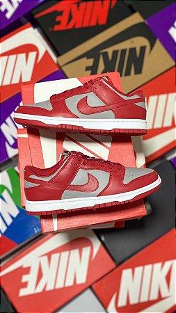 Nike Dunk Low Retro Medium Grey Varsity Red UNVL