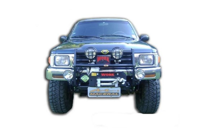 Protetor De Grade Frontal Com Mesa De Guincho 2002/2004 Toyota Hillux
