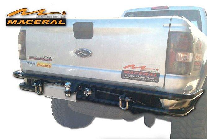 """Para-Choque Tubular Traseiro 2"""" Lift 2"""" E 3"""" Com Tomada E Engate 1998/2010 Ford Ranger"""