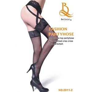 Meia 7/8 Fashion Pantyhose BEILEISI - Cinta Liga