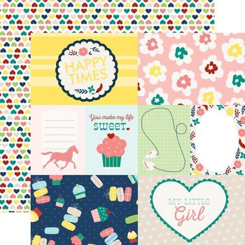 Papel Scrapbook - My little girl - Journaling Cards - Echo Park