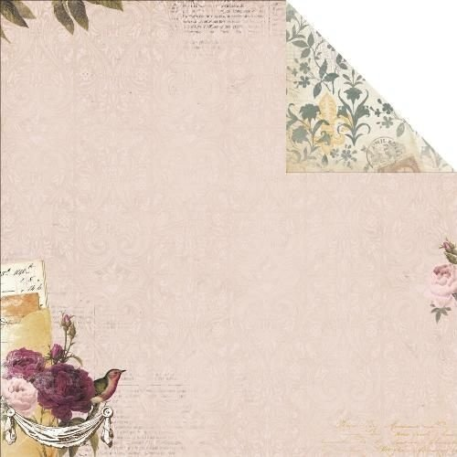 Papel Scrapbook - Rose Cafe  - Bo Bunny