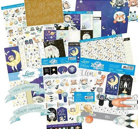 Kit completo coleção Meu Universo com 13 itens Litoarte