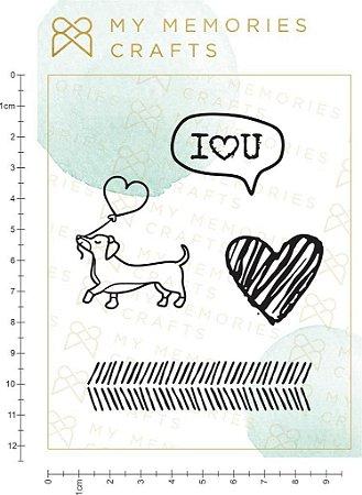 Cartelas de carimbos de silicone - My Love - My Memories Crafts