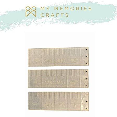 Kit 3 apliques régua em acrílico - My Crafts - My Memories Crafts