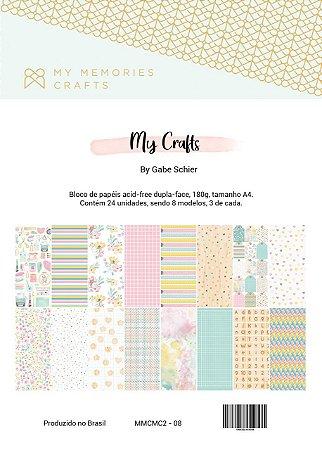Bloco de papéis A4 - My Crafts - My Memories Crafts